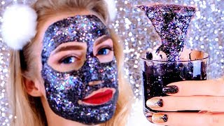 DIY #GlamGlowGlitter Черная маска с глиттером  ГЛЭМГЛОУ ГЛИТТЕР МАСКА GLITTER GLAMGLOW FACE MASK