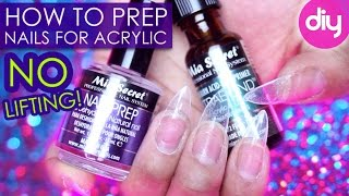 Proper Acrylic Nail PREP to Prevent Lifting (Mia Secret)