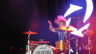 Halestorm AREJAY HALE DRUM SOLO Live at Bayfest Mobile Alabama 10/5/2013 1080P
