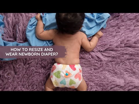 HOW TO RESIZE & WEAR SUPERBOTTOMS NEWBORN UNO?