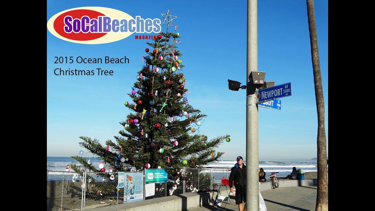 ocean beach christmas tree 2015 youtube - Beach Christmas Tree