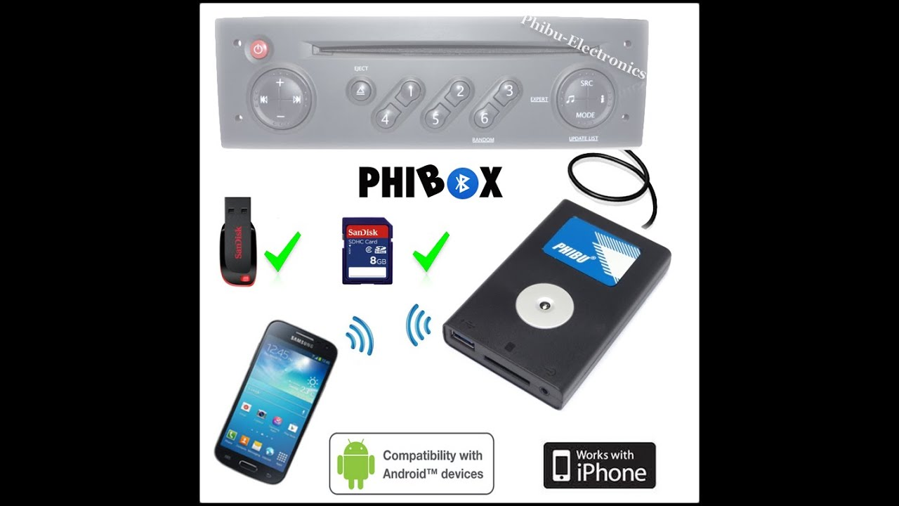 phibox ajoute le bluetooth et l 39 usb sur l 39 autoradio d 39 origine by phibu electronics 2016 04 27. Black Bedroom Furniture Sets. Home Design Ideas