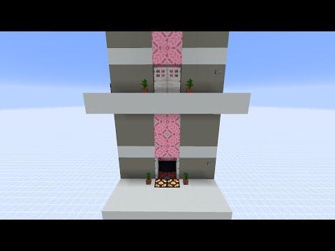 1.11+ Very Realistic Minecraft Multi Level Elevator [doors + call function]