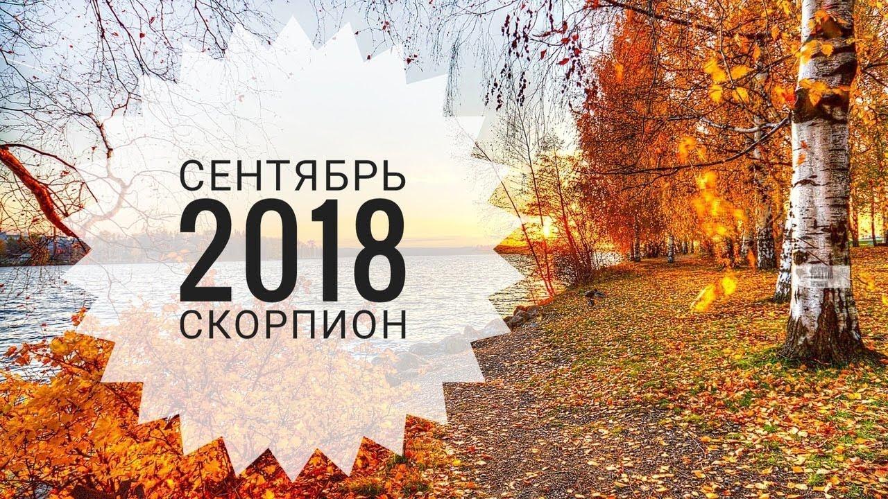 Скорпион: Гороскоп на Сентябрь 2018. Любовный гороскоп. Финансовый гороскоп