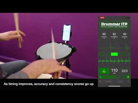 Single Stroke Roll Analyzed with Drummer ITP