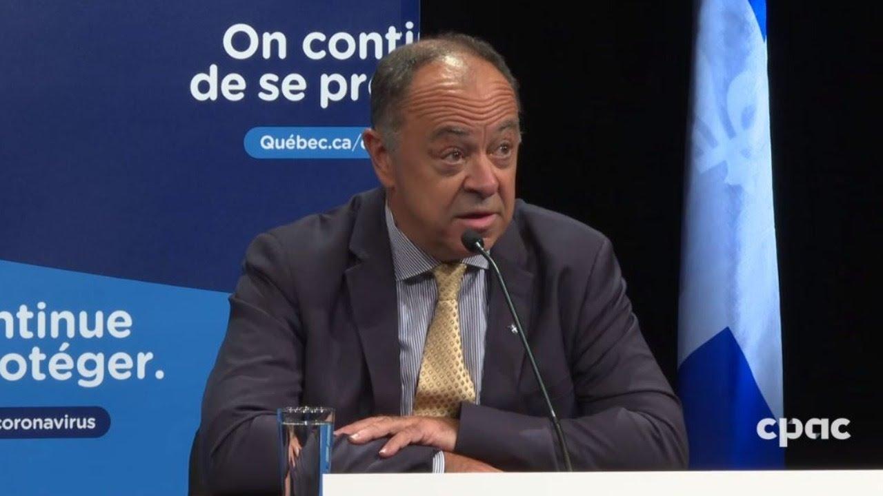 Respect des consignes sanitaires: Christian Dubé tire un sérieux coup de semonce [VIDÉO]
