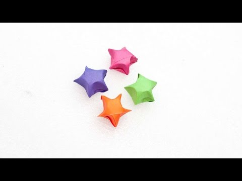 How To Create A Cute Three-Dimensional Paper Stars - DIY Crafts Tutorial - Guidecentral