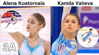 Alena Kostornaia vs Kamila Valieva Best Short Program Score