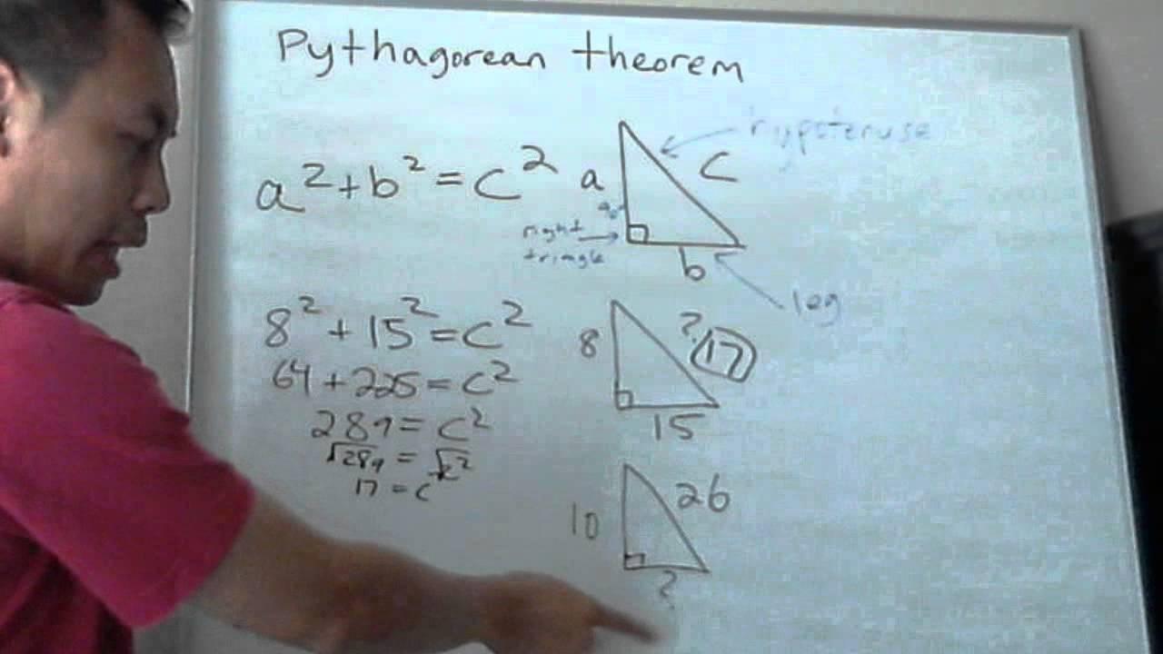 Pythagorean Theorem Solving Right Triangle Pre-Algebra / Algebra 1 ...