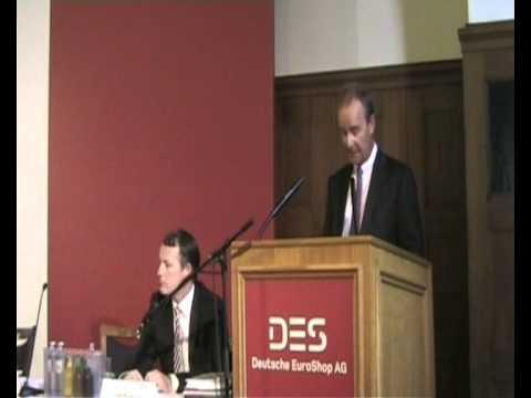 Deutsche EuroShop | Hauptversammlung 2011 | Rede CEO Claus-Matthias Böge