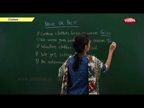 CBSE Class 2 Science : Clothes   Class 2 Science School Syllabus   CBSE Class 2 Videos   NCERT