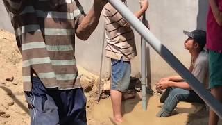 Thục giếng nước bằng tay