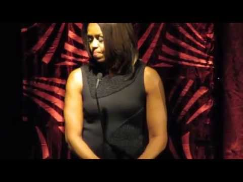 Surprise Guest First Lady Michelle Obama Presenting Alicia Keys the 2015 Grammys On the Hill Award