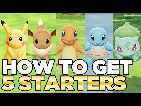How to Get 5 Starters in Pokemon Lets Go Pikachu & Eevee  Austin John Plays HD CC