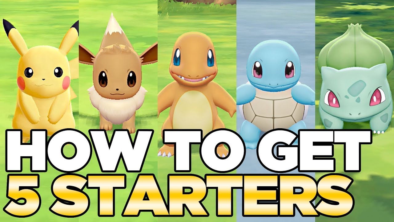 How to get starters in pokemon let   go pikachu eevee austin john plays hd cc also rh youtube