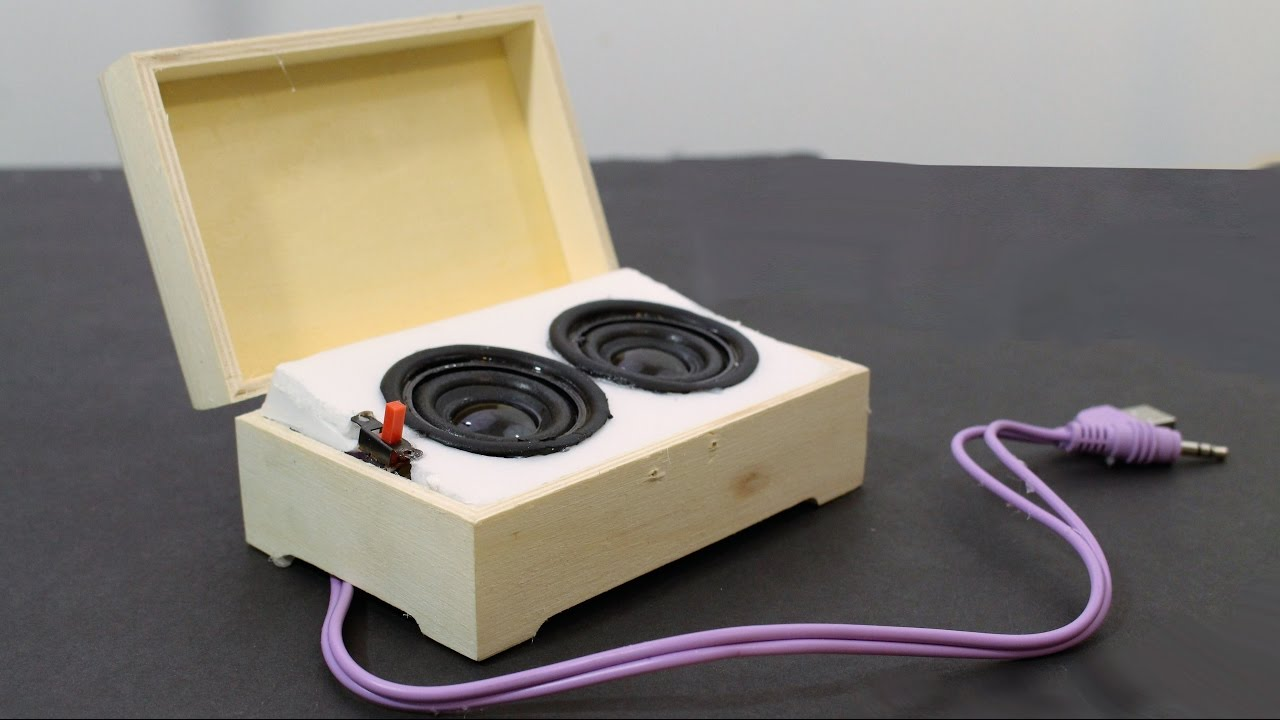 how to build a portable speaker system
