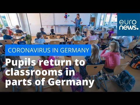 Back to school: Pupils return to classrooms in parts of Germany