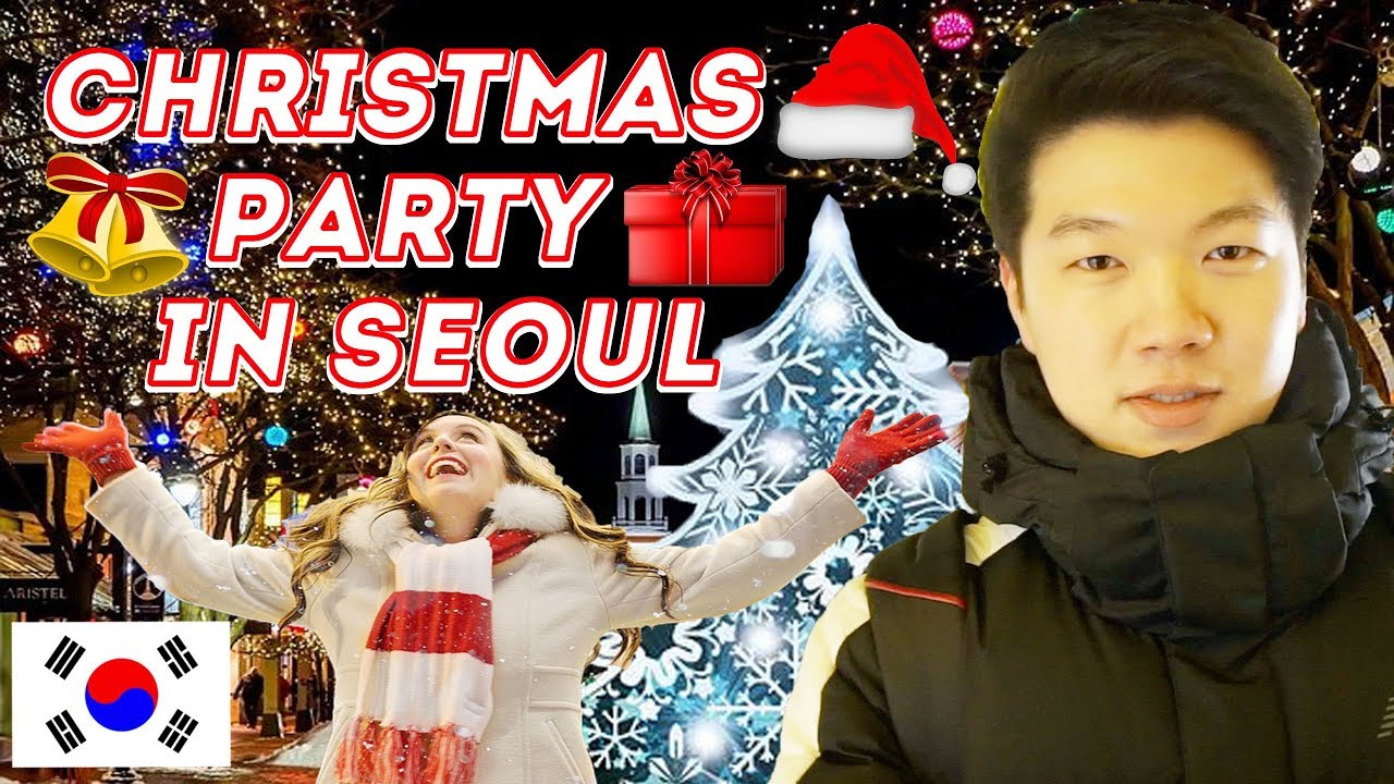 ????????Korea Travel VLOG - Christmas party in Seoul (Cheonggyecheon)