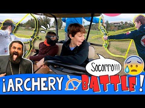 ¡¡ARCHERY KART BATTLE!! 🏹 BATALLA con ARCOS en KARTS  + RETOS y Juego ROBIN HOOD con EL SEVILLA