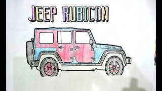 how to color a rubicon car