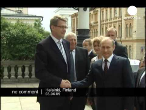 Russian Prime Minister Vladimir Putin arrives in Finland