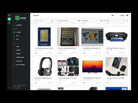 Buy And Sell Stuff For Crypto Anonymously | How To Use The Particl Open Marketplace