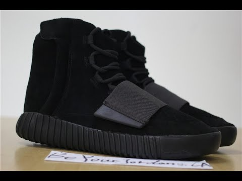 1ba9b43fe PK Adidas Yeezy Boost 750 Triple Black Review - YouTube
