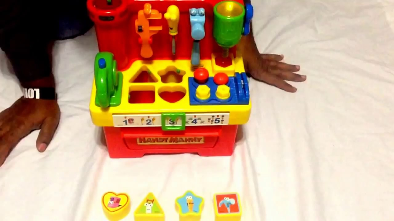 Disney Handy Manny Musical Talking Workbench Tools Shapes