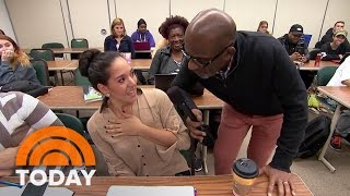 Sunny Anderson Surprises Culinary Student During Class For TODAY's Turkey Trot!   TODAY