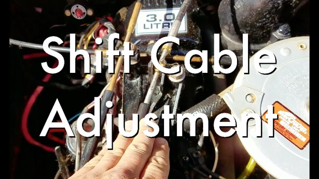 How To Adjust Your Mercruiser Shift Cable  YouTube