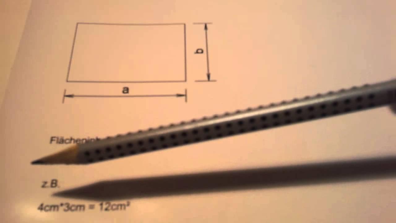 fl cheninhalt eines rechtecks berechnen fl che ermitteln youtube. Black Bedroom Furniture Sets. Home Design Ideas