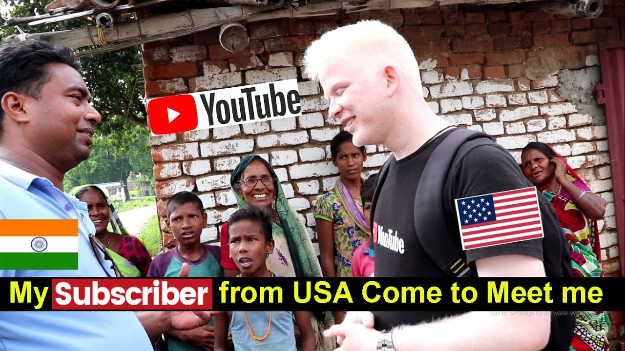 Vlog 3 # My Subscriber from America Came to meet me in my Village Bihar | Funny Reactions
