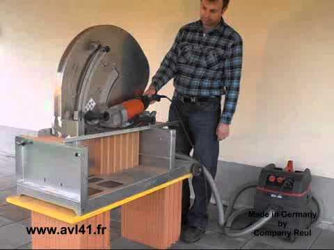 Nouvelle scie avl s 26 pour d coupe de briques et b ton for Crepi exterieur pour beton cellulaire