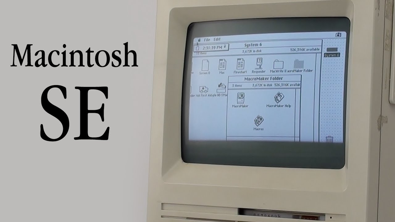 Macintosh Se Tour Vintage Apple Tours Youtube