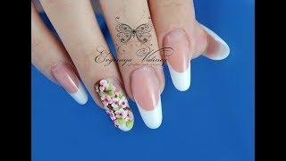 лепка сакура/лепка на ногтях/дизайн ногтей сакура