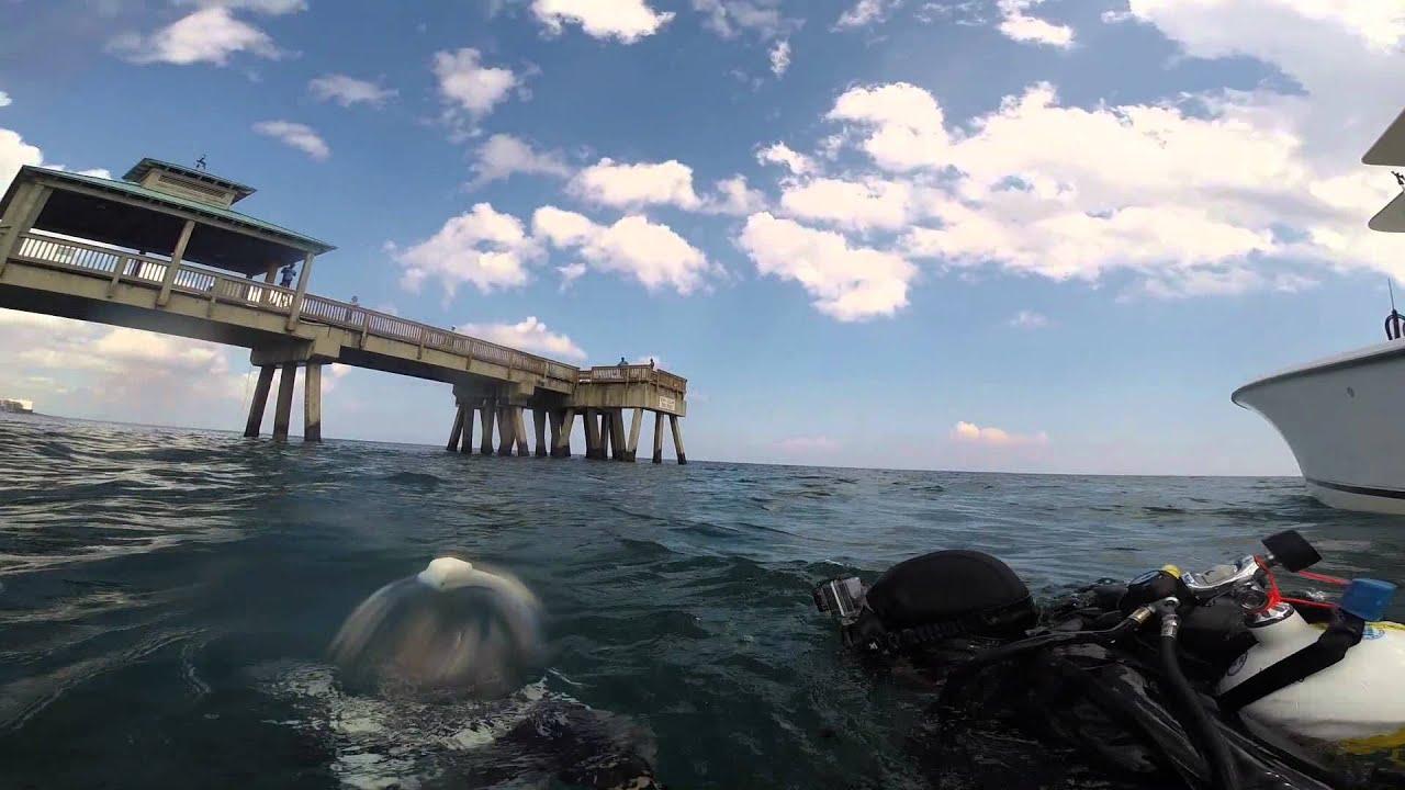 Install Of Underwater Camer On Deerfield Beach Fishing Pier
