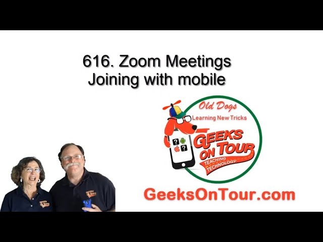 How Do I Join a Zoom Meeting with a Smartphone? Tutorial Video 616