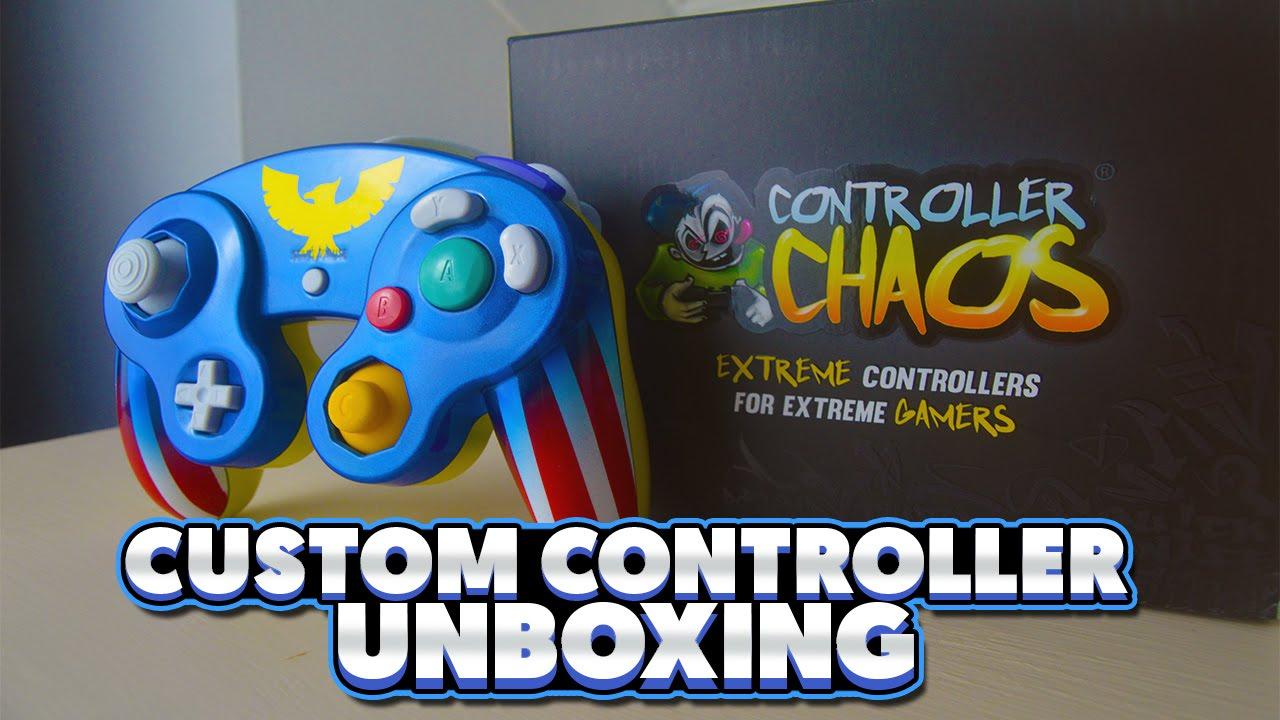 Captain Falcon Custom GameCube Controller Unboxing - Controller Chaos