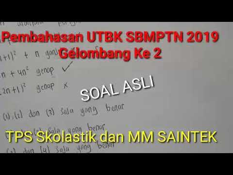 UTBK Ke 2 Pembahasan Full SBMPTN 2019