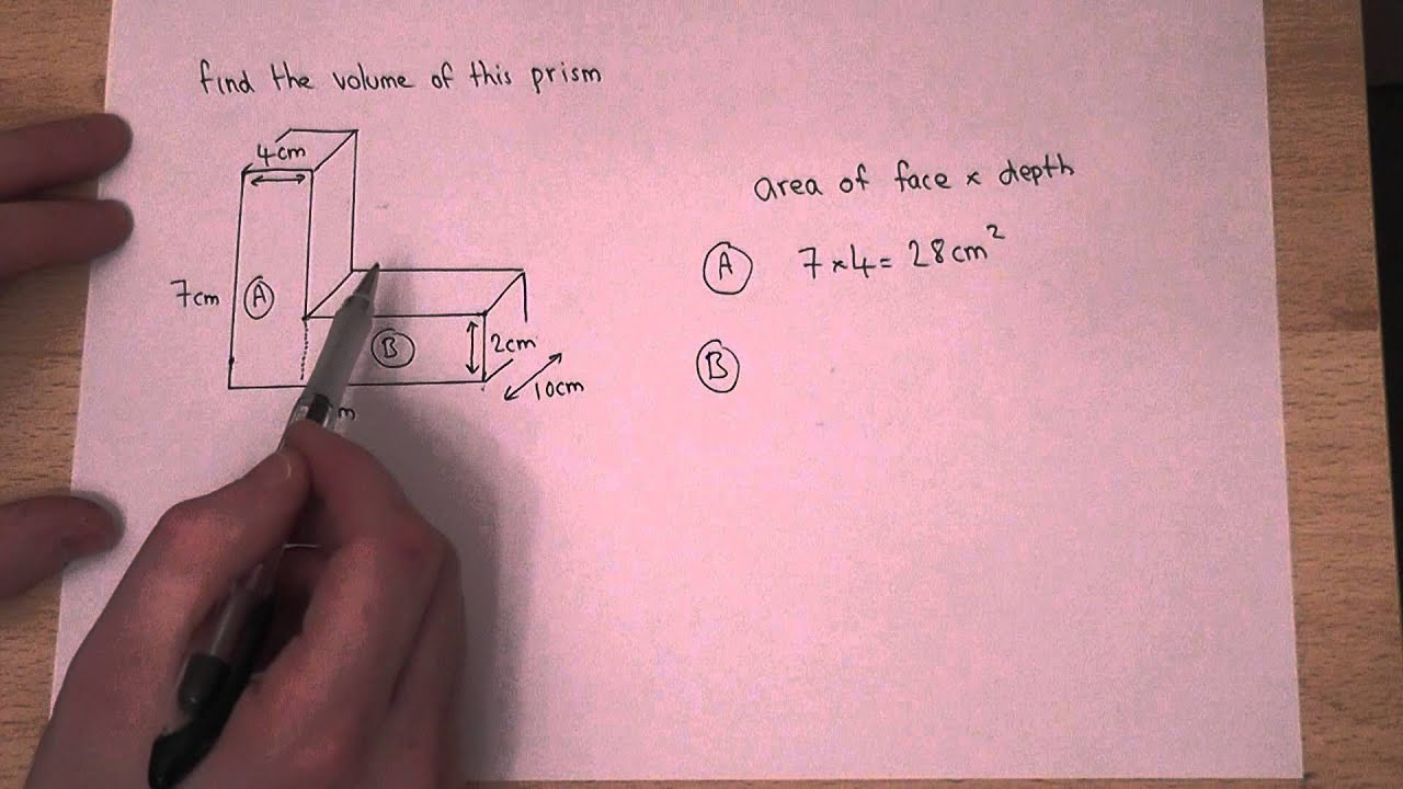 Volume How To Find The Volume Of An L Shaped Prism Youtube