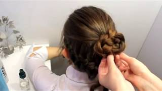 Прически в школу и на 1 сентября топ  Прическа пучок из простых косичек  Легкое плетение кос