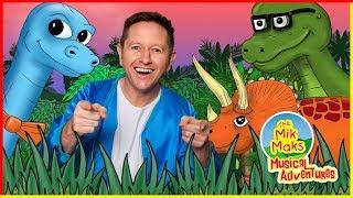 I Love Dinosaurs | A World of Jurassic Fun | Kids Songs | The Mik Maks