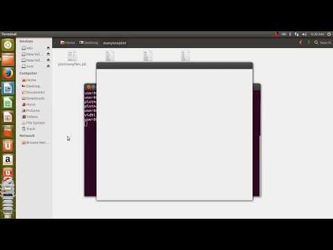 GNU Plot animation - rotation by Kamahl