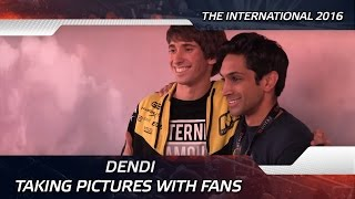 Dendi taking pictures with fans @ The International 2016 (ENG SUBS!)