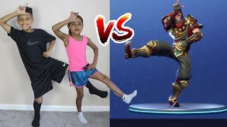 FORTNITE DANCE BATTLE IN REAL LIFE!! (NEUE DANCES)