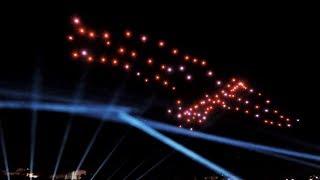 Drohnenshow Frankfurt Main Eröffnung neue Altstadt