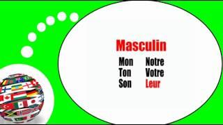 Французского видео урок = Притяжательные прилагательные в женской форме