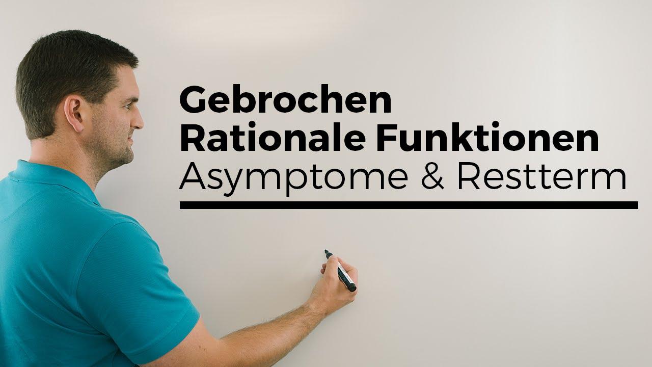 gebrochen rationale funktionen asymptote und restterm polynomdivision mathe by daniel jung. Black Bedroom Furniture Sets. Home Design Ideas