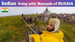 Living with NOMADs of Arctic RUSSIA & 1000s of Reindeers [ NENETS tribe ]