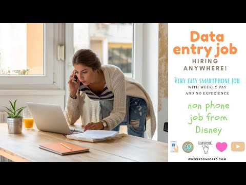 Data Entry Job Hiring Anywhere +Easy Smartphone Job (weekly pay)
